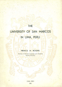 Cubierta para The University of San Marcos in Lima, Peru